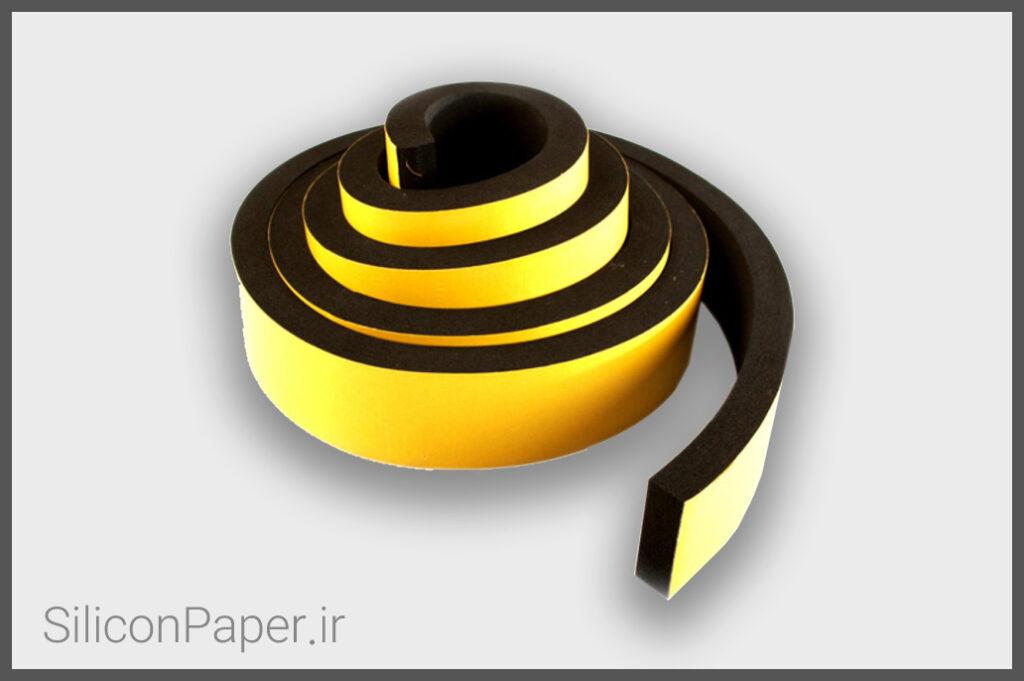کاغذ سیلیکونی مخصوص فوم پشت چسب دار